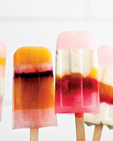homemade popsicles.: Striped Ice, Popsicle, Icepop, Sweet, Recipe, Food, Ice Cream, Ice Pops, Martha Stewart