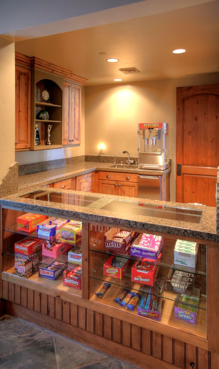 Dream house game room - Home Theater Concession Stand Oak Glen California