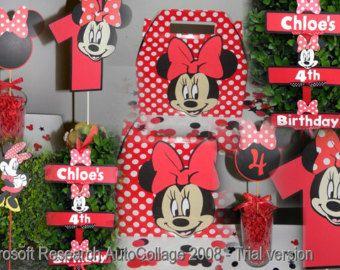 Download istantaneo pacchetto di Minnie Mouse Party di DellaEvents