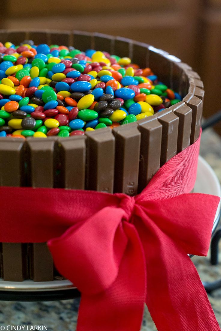 Kit Kat Cake - I've made this and it is great. Low skill but so impressive. One tip is to hit it with a hair dryer on low if your fingers mar the chocolate bars in any way.