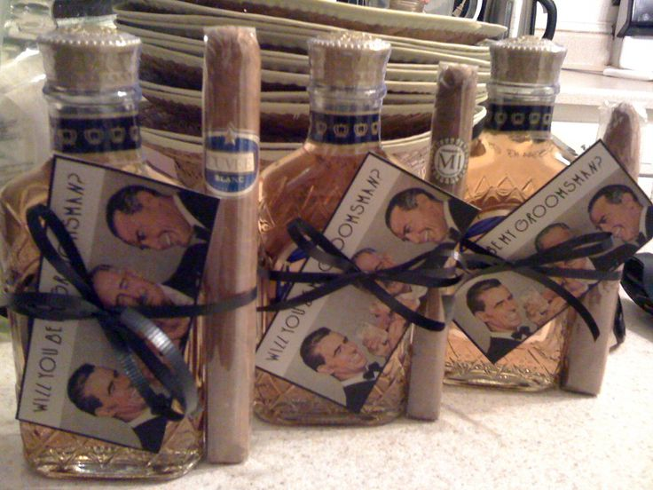 Gifts for the groomsmen. Cause you know you'll be doing this for him...