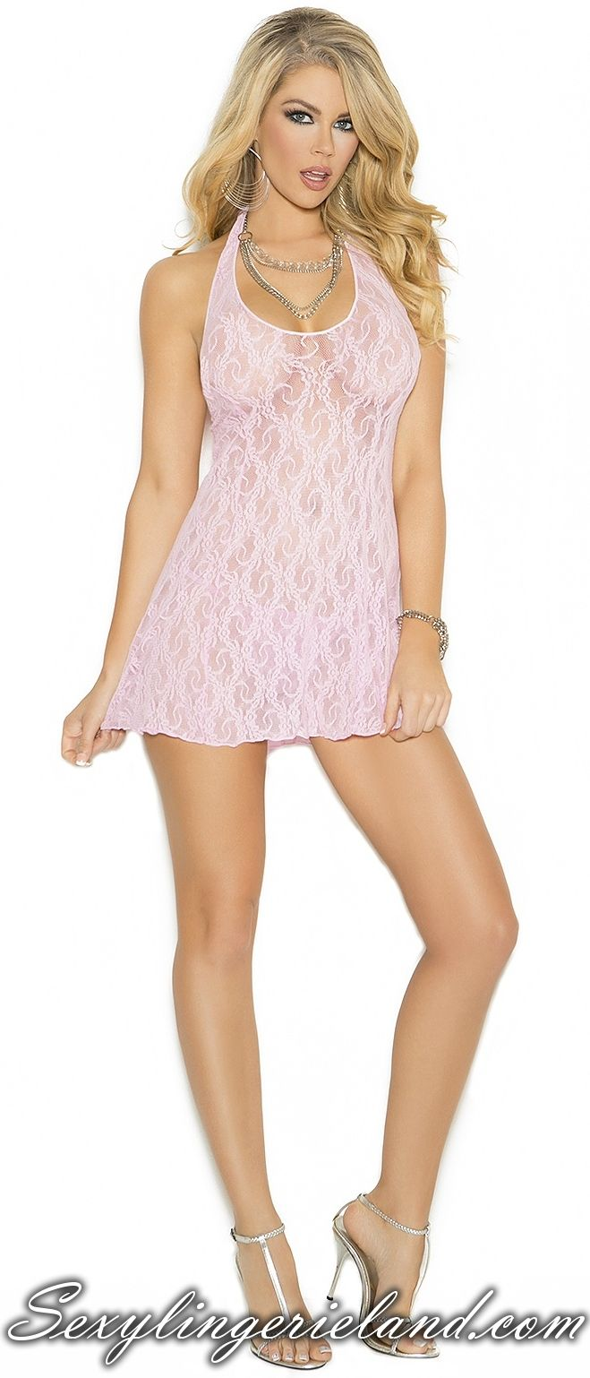 Baby pink chemise $14.50 Baby #pink #minidress for hot evenings with your lover. Nice lace pattern is adding #beauty and charm. Simple and #sexy #chemise is also available in #plussize G-string included. Be hot girl in #cute womens chemise. #babydoll #deal #love #valentine #luxury #outfits #nightwear