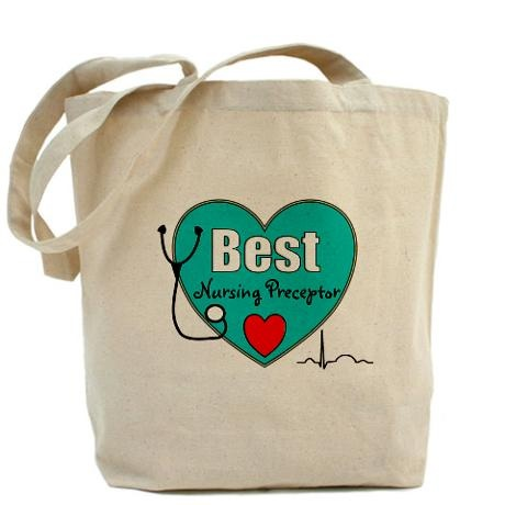 "Cute ""Best Nurse Preceptor"" gift tote"