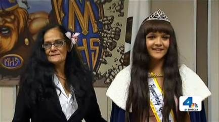 "Marina High School in southern California has elected the nation's first transgender homecoming queen.  ""I'm so proud to win this not just for me but for everyone out there and for every kid -- transgender, gay, straight, black, white, Mexican, Asian. It doesn't matter, you can be yourself,"" Cassidy Lynn Campbell said after her win."