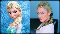 Get Elsa's Textured French Braid from Disney's Frozen... {video tutorial included}