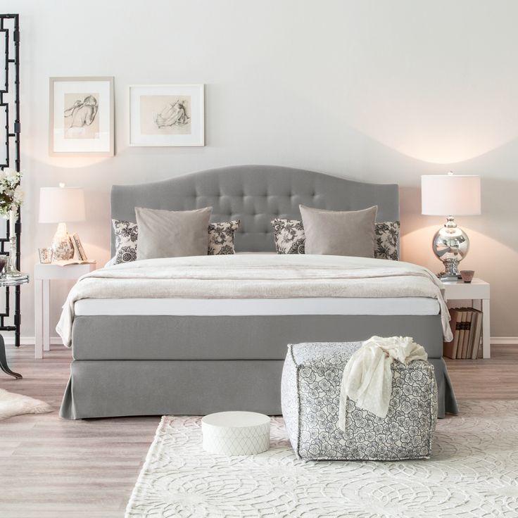 Die besten 25+ Graues bett Ideen auf Pinterest gemütlicher - wohnzimmer grau lila weiss