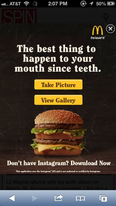 McDonald's showcases Instagram campaign through mobile - Mobile Marketer - Advertising