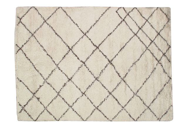 Diwitt Rug, Off White/Brown