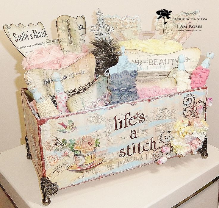 Handmade Shabby Chic Box Of Trims...oh, I love it...where's mine? :)