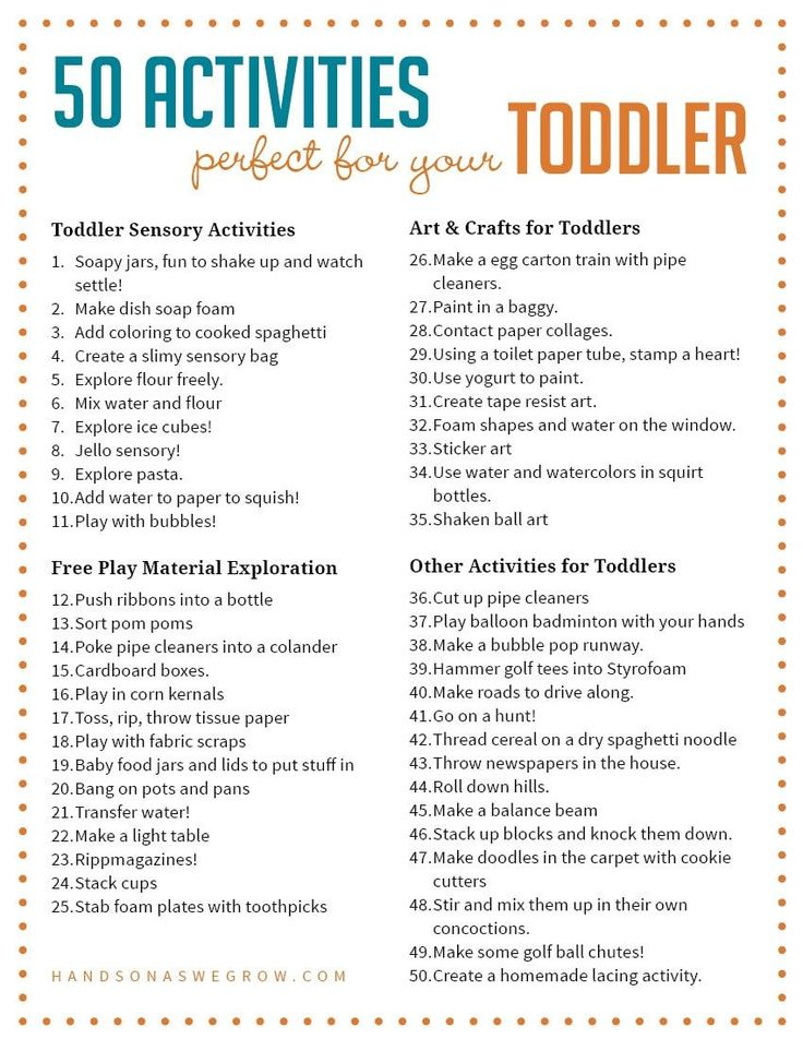Activities for toddlers are one of the hardest things to come up with. These 50 activities toddlers will love exploring, creating and having fun with!