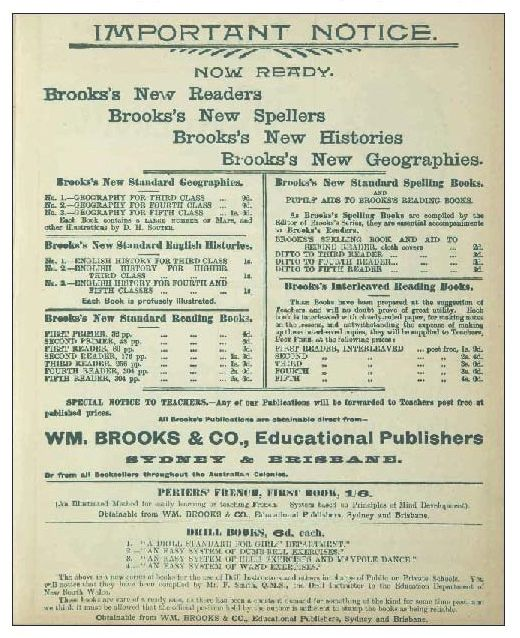 Advertisement for Brokks Readers. TROVE