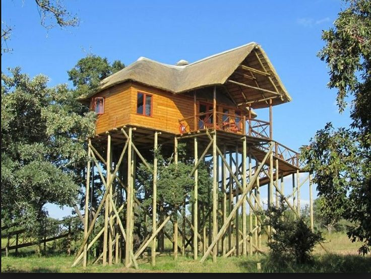The platform on stilts provides a fantastic view and a creative and fun games lodge