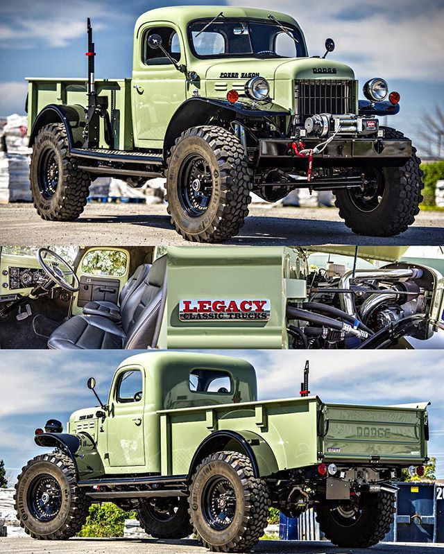 This @legacyclassictrucks Power Wagon is an absolute monster! Great to spend some time with it this afternoon. #MMoffroad #dodge #powerwagon #legacyclassictrucks #scarfonephotography
