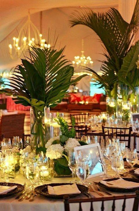 25 Best Ideas About Tropical Wedding Centerpieces On Pinterest Tropical Centerpieces Luau