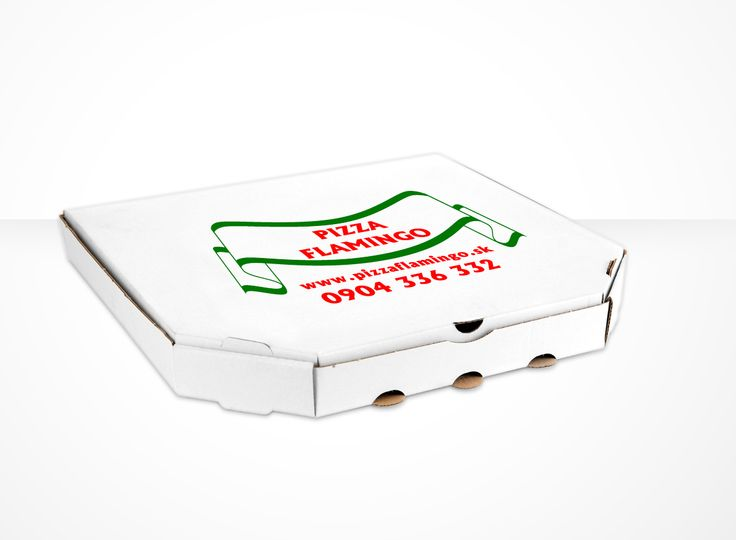 two color printed pizza box