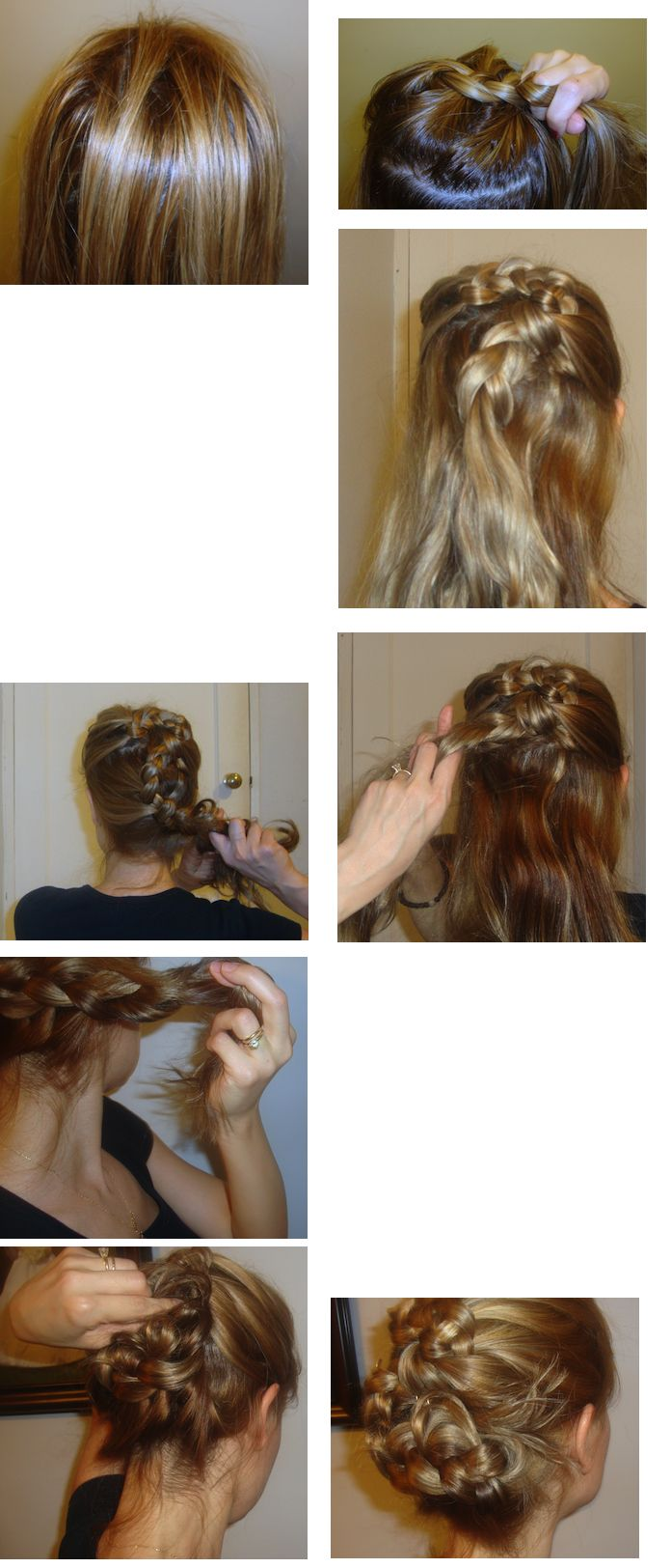 romantic feminine renaissance hair style braids... could pull it a little more to the side and put like a nice accessory with it?