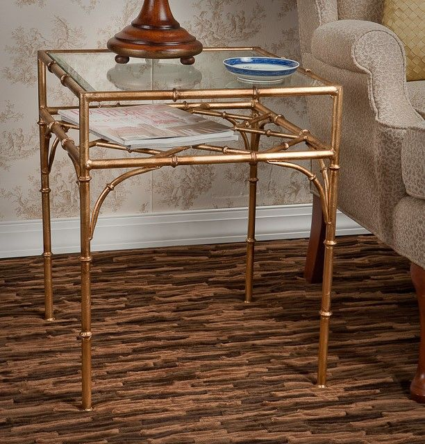 Gold And Glass Chinese Chippendale Table | Interior Design | Pinterest | Side  Tables, Tables And Family Rooms