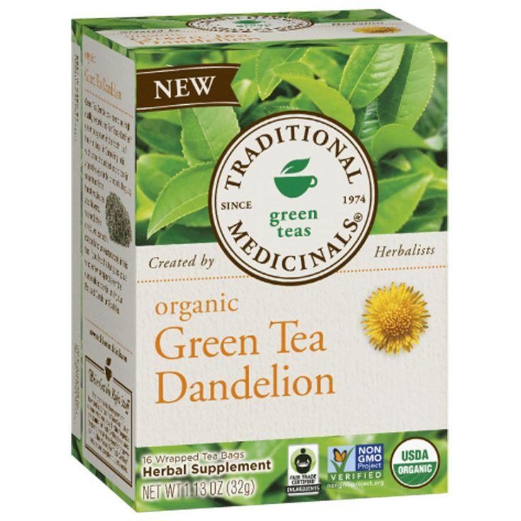 Traditional Organic Green Tea Dandelion 16 Bag, ,