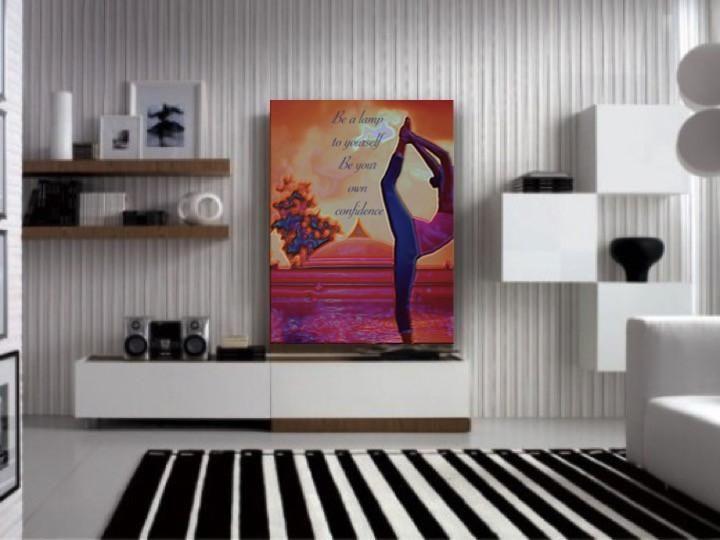 Buddha art for the home. Home decor painting. Yoga Wall Hanging/ Wall – Artikrti