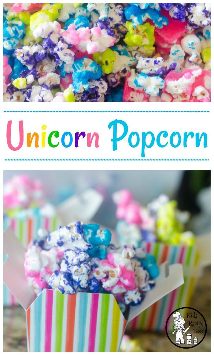 Candy Coated Popcorn for a Unicorn or Rainbow Party