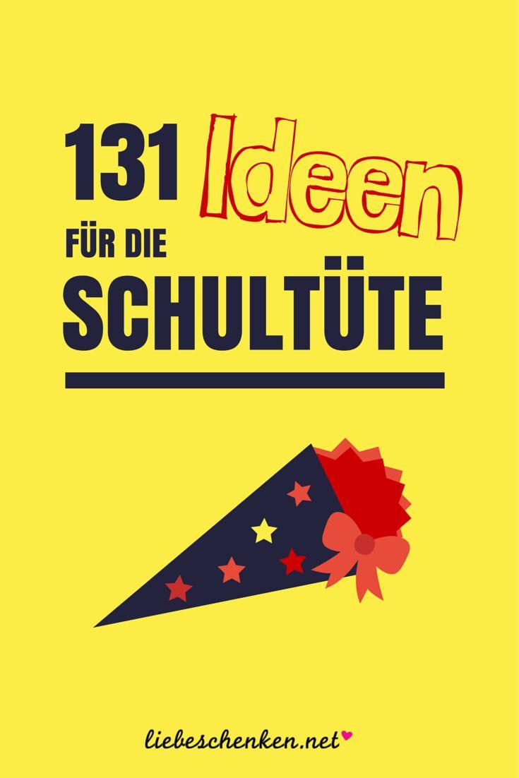 Schultüte füllen: 131 Ideen für die Schultüte // Geschenke zur Einschulung für Jungen & Mädchen - In meiner Liste findest du Geschenkideen für Schule, Schulweg & Zuhause, zum Lesen, Lernen & Spielen, sowie Süßigkeiten und gesunde Alternativen für die Zuckertüte zum Schulstart