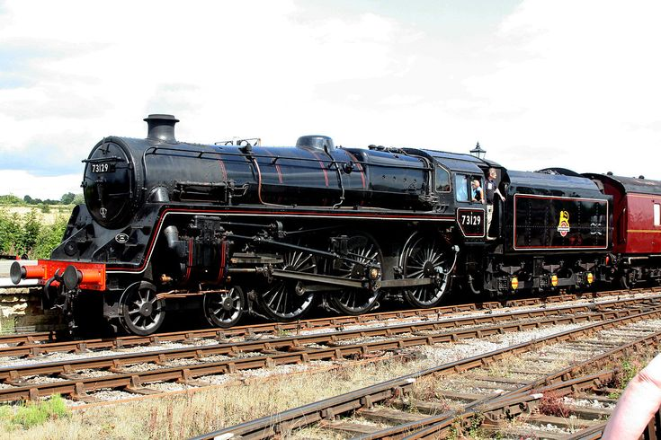 BR Class 5MT No 73129 - Operational. This engine is the only surviving Standard Class 5 built by British Railways fitted with the Caprotti valve gear.
