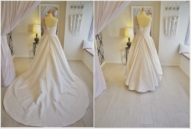 Wedding dress bustle types styles tips wedding dress for Wedding dress train bustle