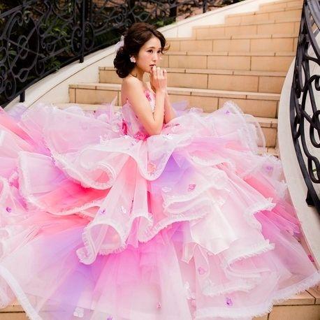 THE HANY【THE HANY2016】ピンクソフィー☆ふわふわチュールで華やかに♪|ウエディングドレスを探す|ゼクシィ