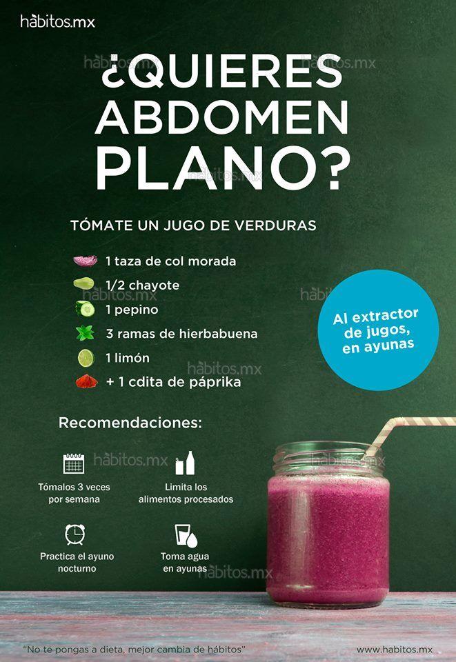 Jugos de verduras para abdomen plano