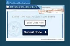 PCH Activation Code Input Form. How would you like to become the next millionaire? But where do I enter my PCH ActNow code I receives???