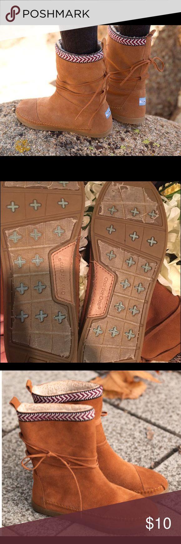 Cute! TOMS Nepal Boots // Mocassins // Size 7 Mint condition // TOMS Nepal Boots // size 7 TOMS Shoes Ankle Boots & Booties