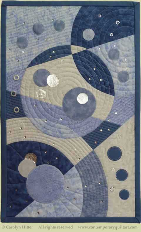 """Image of """"Cosmic Dance"""" quilt by Carolyn Hitter"""