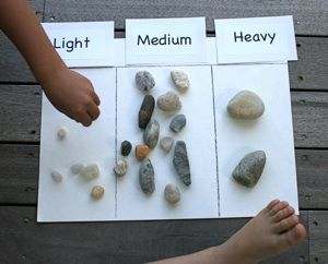fun ways to collect and sort rocks - do a nature walk through the hills to collect?