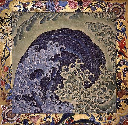 KATSUSHIKA Hokusai(葛飾北斎 Japanese, 1760-1849) — Decorative ceiling paintings,1844. Feminine Wave