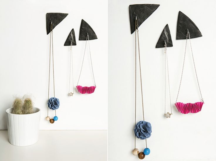 Tutorial DIY: Zrób wieszaki na biżuterię z efektem marmuru przez DaWanda.com