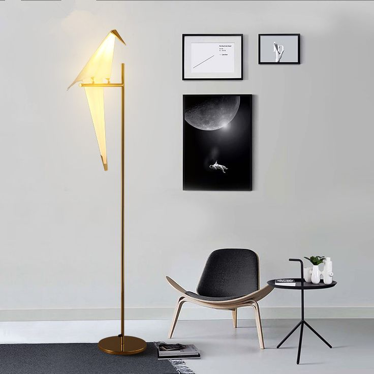 Modern nordic bird paper cranes floor lamp for bedroom living room standing lamp light fixture sofa