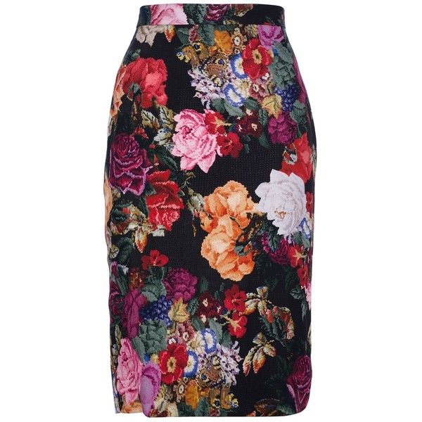 Dolce & Gabbana Floral pencil skirt (2.235 BRL) ❤ liked on Polyvore featuring skirts, bottoms, floral printed skirt, multicolor skirt, colorful pencil skirt, colorful skirts and multi color skirt