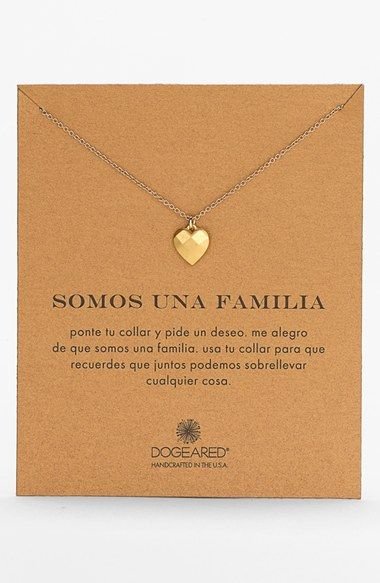 Dogeared 'Somos Una Familia' Boxed Pendant Necklace available at #Nordstrom