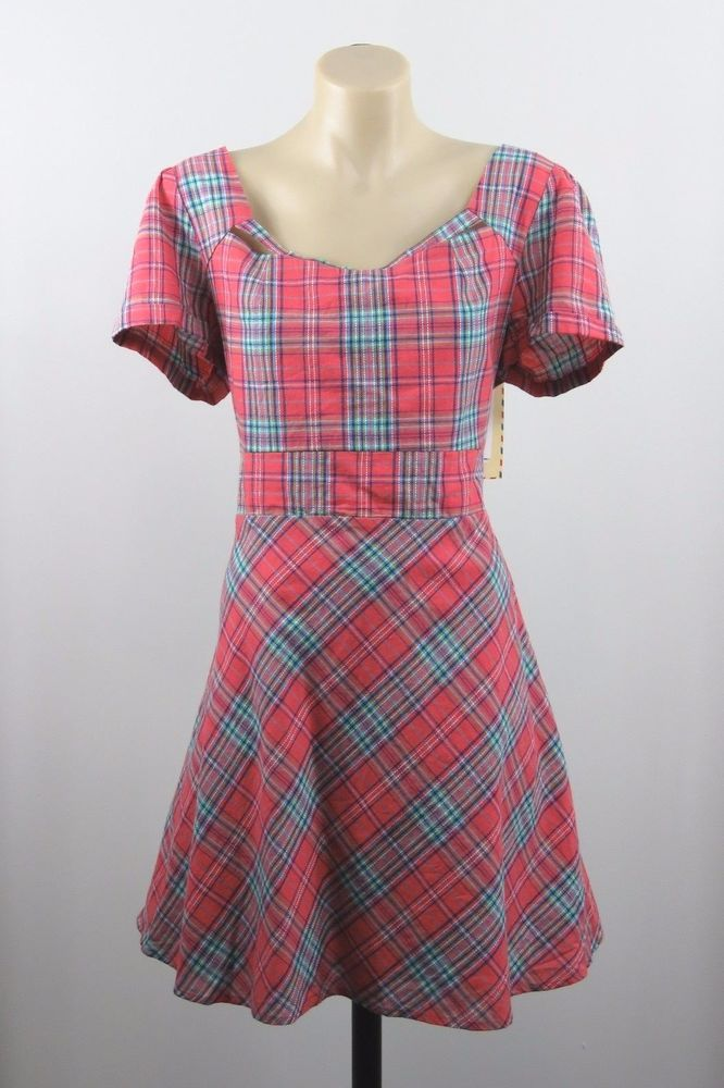 Size L 14 Revival Dangerfield Ladies Tartan Dress Retro Pinup Rockabilly Design #Revival #Skater #Casual