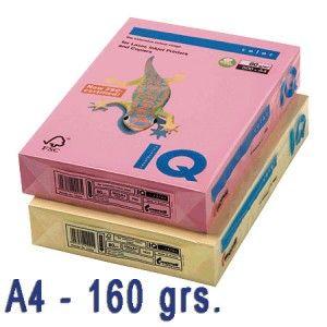 Papel de colores en delicados tonos pastel.  Idóneos para impresión inkjet, láser y fotocopias de la más alta calidad.  Paquete de 250 hojas A4 de 160 grs.  Color: Crema pálido