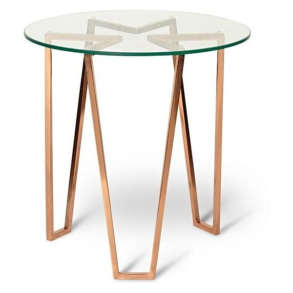 Copper Galaxite Side Table | Oliver Bonas ($195) ❤ Liked On Polyvore  Featuring Home