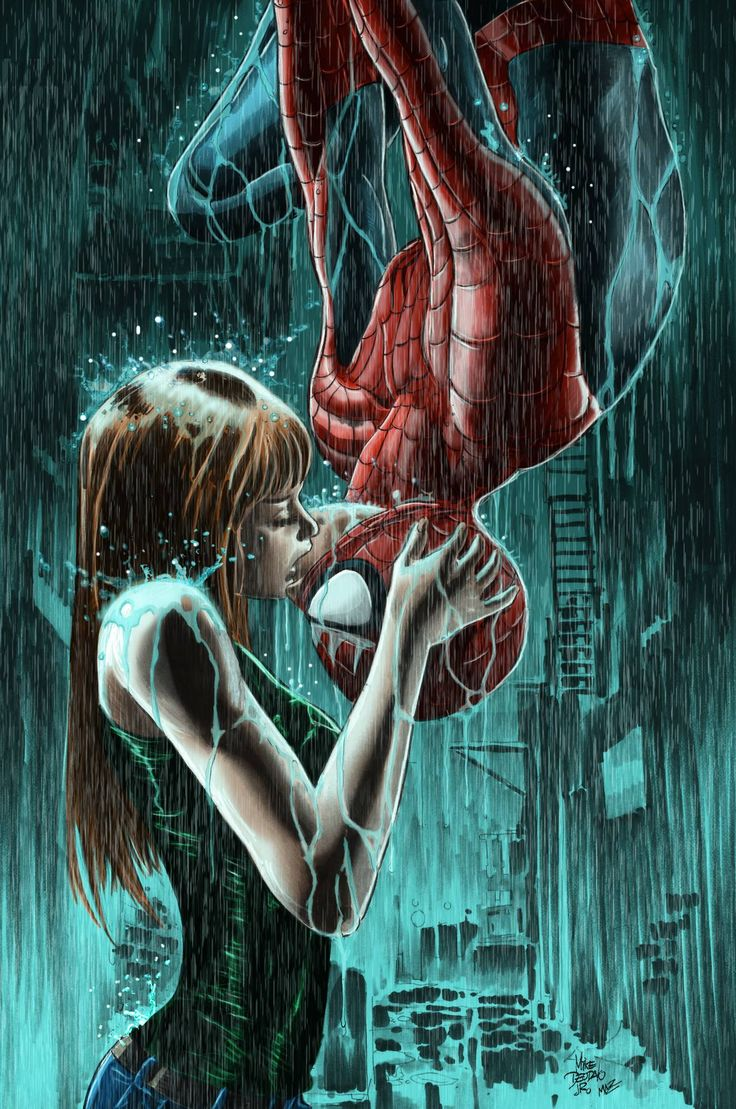 Spidey and MJ. by Mike Deodato Jr. Colors by Mauricio Zani Zago.