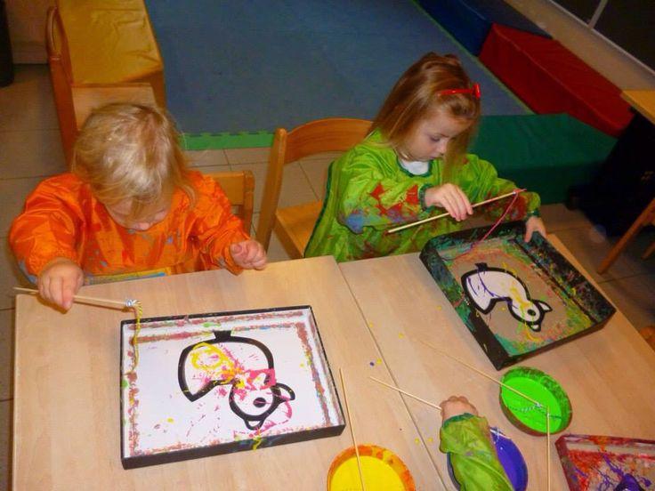 Thema kermis schilderen met vislint