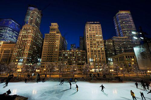 Ice Skating at Millennium Park  Chicago, IL