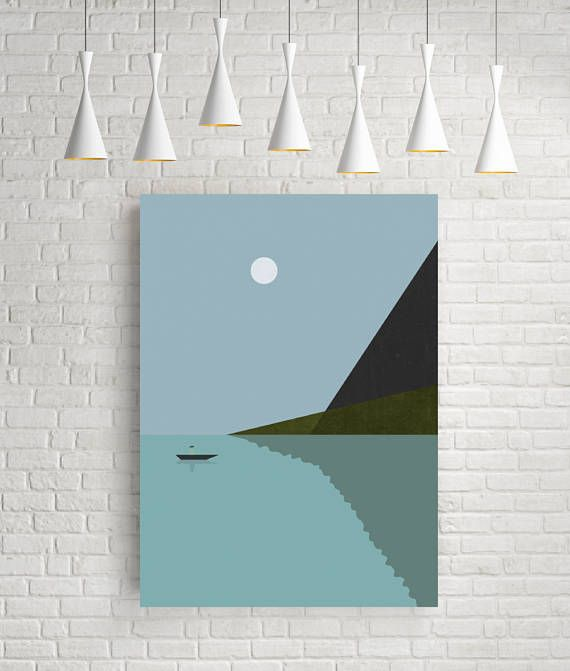 Art prints, minimalist art print, vintage prints, sea print, nautical art print, sea poster, art prints vintage, nautical poster, lake – Barbara