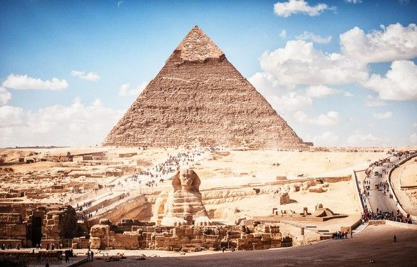 The Great Pyramid of Giza, Egypt - The 13 Best Places in the World to Take Photographs via @mydomaine