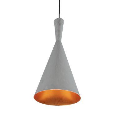 LAMPA wisząca VICKY 1108111 Spotlight metalowa OPRAWA zwis stożek miedź szary