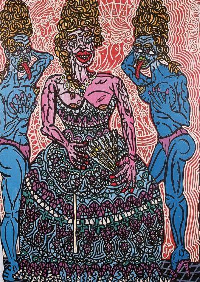 Robert Combas - Marie Antoinette . 1989