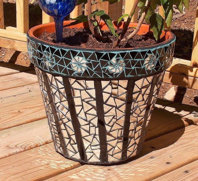 Flower Pot · Mosaic PotsMosaic GardenMosaic ...