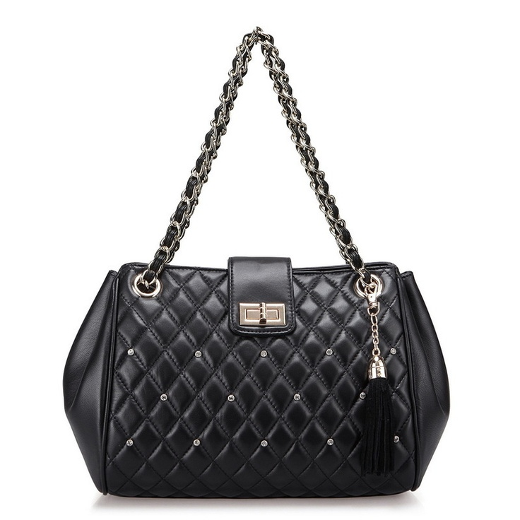 Aliexpress.com : Buy 100% real genuine sheep leather rhinestone crystal diamond plaid quilted tassel black evening bag,Designer product 2013 new year from Reliable vibe retail suppliers on SaraMary Handbag Wholesale . $60.66